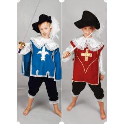 Karnevalový kostým MUŠKETÝR BORDEAUX - kalhoty, košile, ornát,klobouk