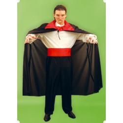 Karnevalový kostým DRACULA - kalhoty, košile, plášť, pásek