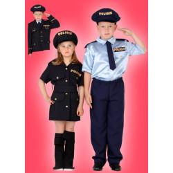 Karnevalový kostým POLICISTA - kalhoty, košile, kravata, sako
