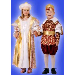 Karnevalový kostým KRÁL - kalhoty, horní díl, čelenka, pásek