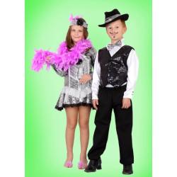 Karnevalový kostým Gentleman set - kalhoty,košile, vesta,motýlek, klobouk