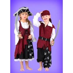 Karnevalový kostým Pirát - kalhoty,horní díl s páskem