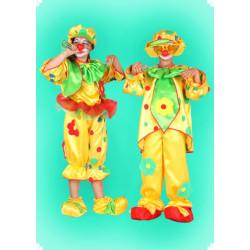Karnevalový kostým Šašek dvoudílný - horní díl, kalhoty, čepice