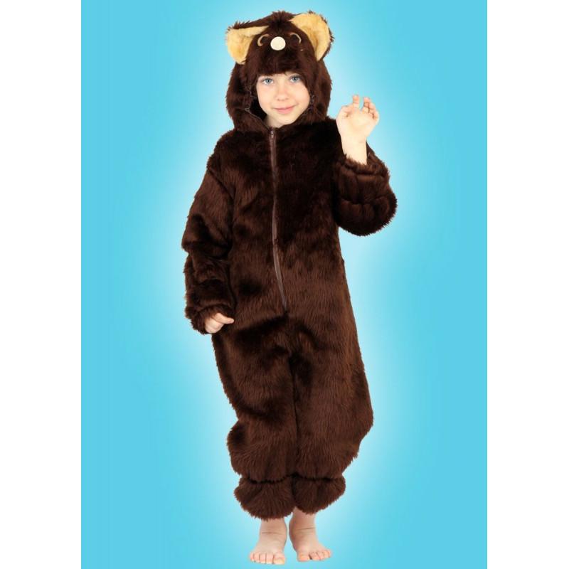 Karnevalový kostým MEDVĚD - kombinéza s kapucí