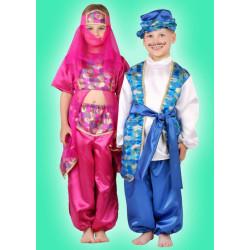 Karnevalový kostým ALADIN - kalhoty, horní díl, pásek, čepice