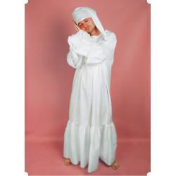Karnevalový kostým NOČNÍ KOŠILE BÍLÁ - košile, čepice