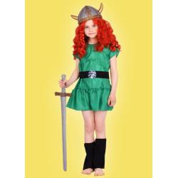 Karnevalový kostým Viking děvče - šaty,štulpny