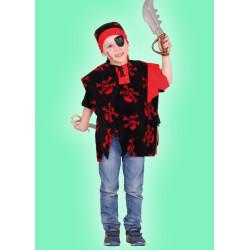 Karnevalový kostým Pirát - vesta,šátek