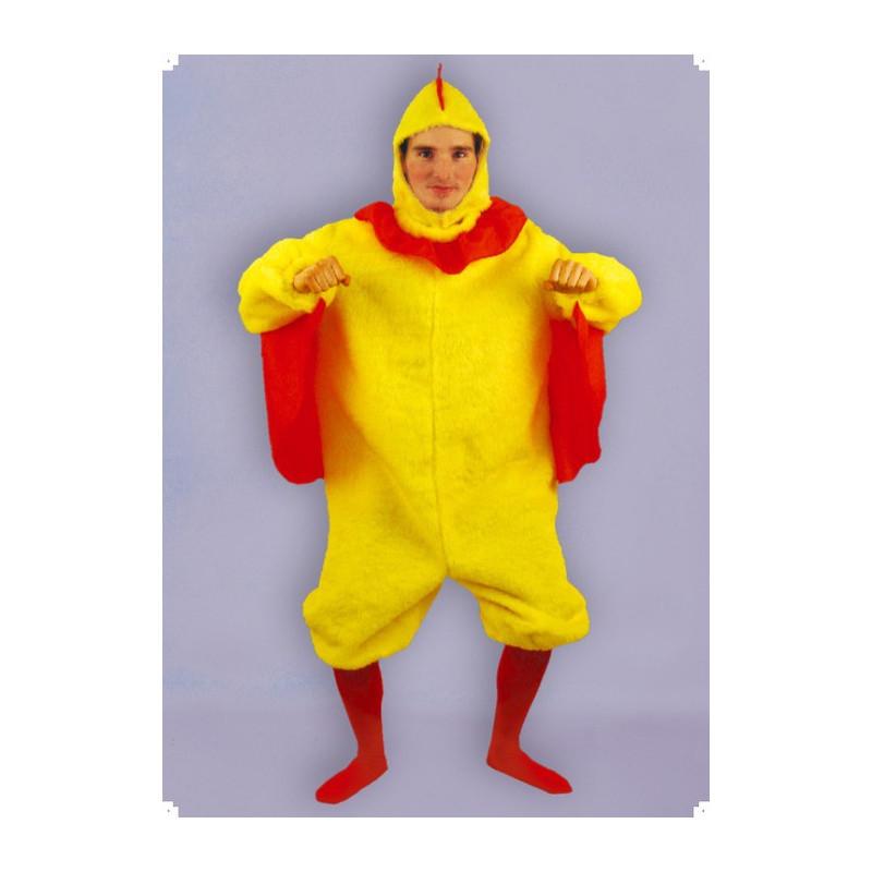 Karnevalový kostým KUŘE - kombinéza, kapuce