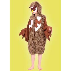 Karnevalový kostým Sova - kombinéza s kapucí,škraboška