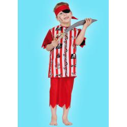 Karnevalový kostým Pirát - horní díl, kalhoty, čelenka, klapka na oko