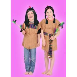 Karnevalový kostým Indiánka - šaty,čelenka