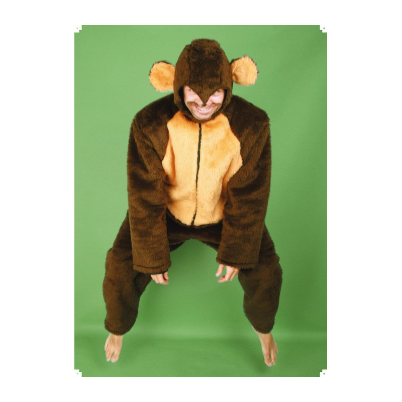 Karnevalový kostým OPICE - kombinéza, kapuce