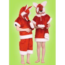 Karnevalový kostým Liška-hoch - horní díl s kapucí,kalhoty,škraboška