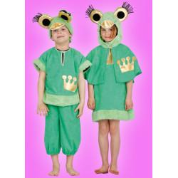 Karnevalový kostým Žabka princezna - šaty s kapucí,pelerína