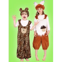 Karnevalový kostým Veverka - kalhoty,čepice