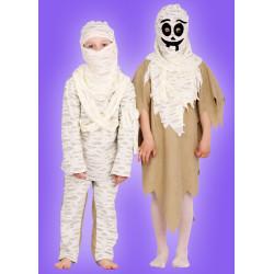 Karnevalový kostým Mumie - horní díl,kalhoty,kukla