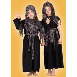 Karnevalový kostým Zombie děvče - šaty,pokrývka hlavy