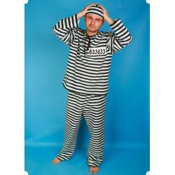 Karnevalový kostým TRESTANEC - kalhoty, horní díl, čepice