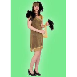 Karnevalový kostým Šaty zlaté - šaty,čelenka