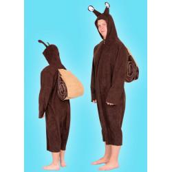 Karnevalový kostým Šnek - overal s kapucí,ulita