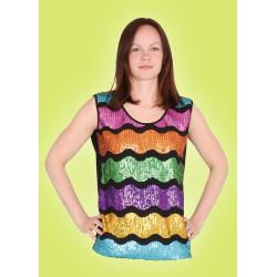 Karnevalový kostým Top s barevnými flitry - top