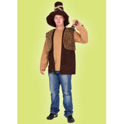 Karnevalový kostým Loupežník - vesta,klobouk