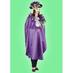 Karnevalový kostým Benátčanka s kloboukem - plášť s límcem,klobouk