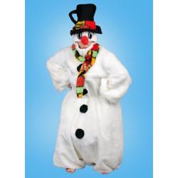 Karnevalový kostým Sněhulák - kombinéza,kapuce s kloboukem,šála