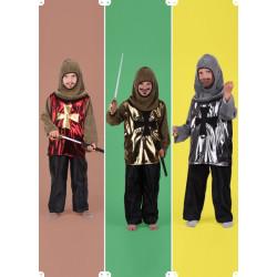 Karnevalový kostým RYTÍŘ C - kalhoty, horní díl, kapuce