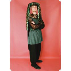 Karnevalový kostým POHÁDKOVÝ PRECEPTOR Z POPELKY - kalhoty, horní díl, čepice
