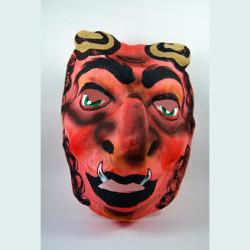 Maska  čert organtýnový červený                                                                 vyprodáno!!