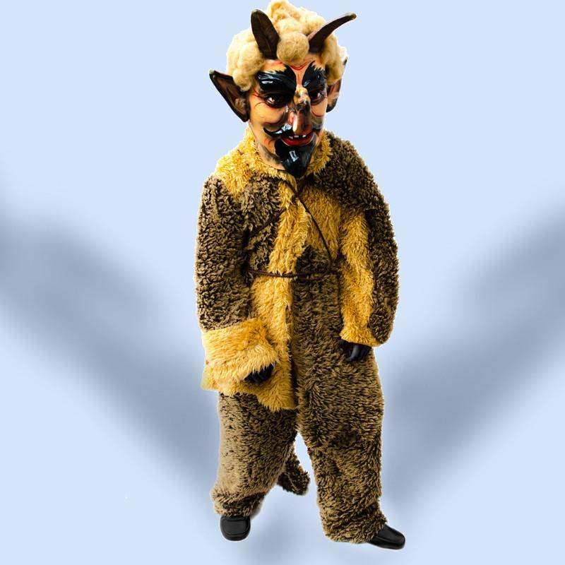 Kostým Čert valašský světlý - kalhoty + kabát,  hlava není součástí