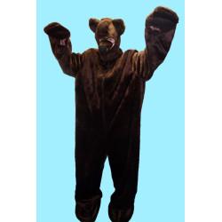 Masopustní kostým MEDVĚD S KAPUCÍ - kambinéza, kapuce,nos