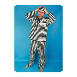 Masopustní kostým  VĚZEŇ - kalhoty,halena,čepice