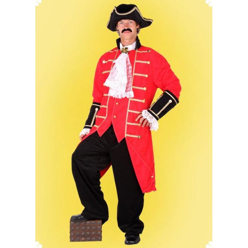 Masopustní kostým  DUSTOJNÍK - košile,frak,kalhoty,klobouk
