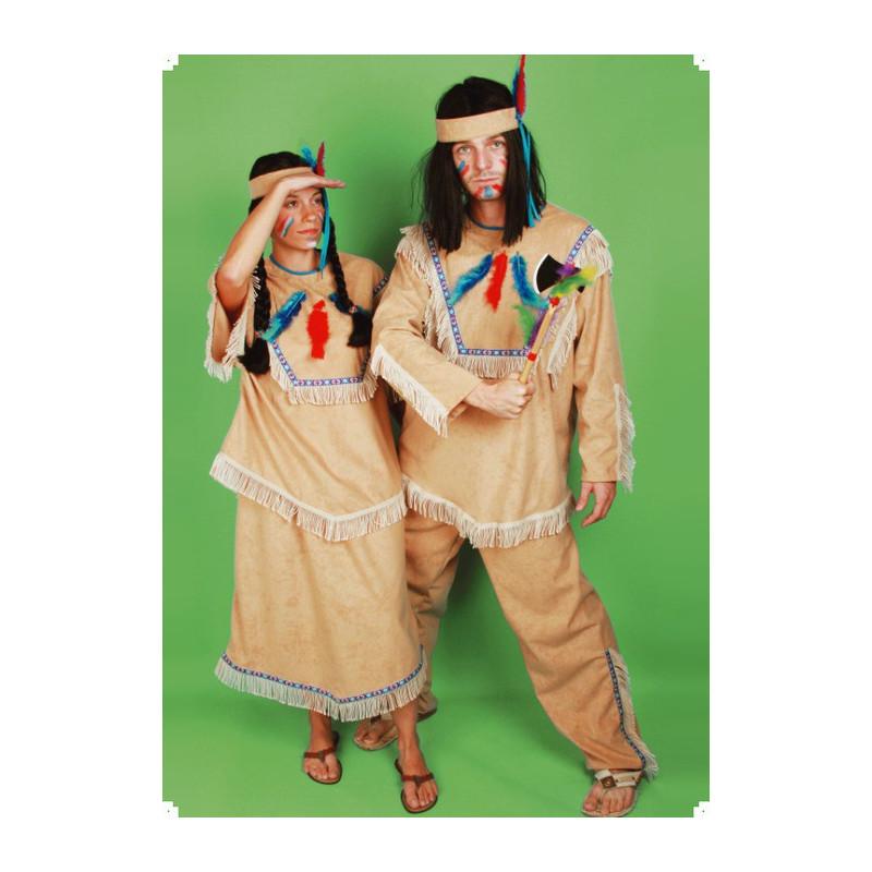 Karnevalový kostým INDIÁN - kalhoty, horní díl, čelenka