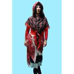 Masopustní kostým  CIKÁNKA - sukně, 3 velké šátky