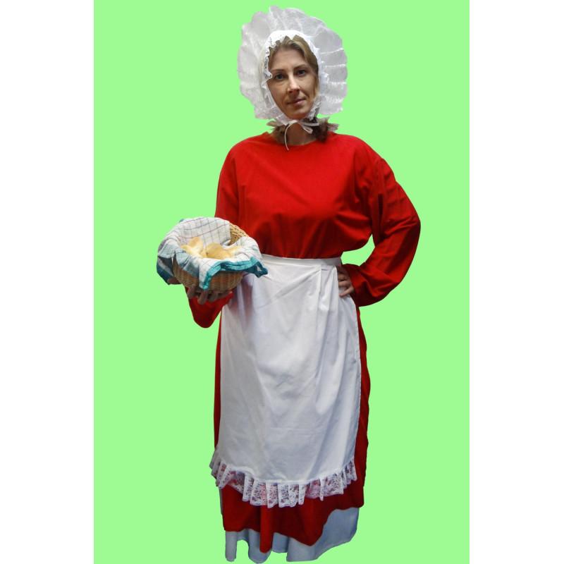 Masopustní kostým  BÁBA/PEKAŘKA - 2 sukně, zástěrka, halena,čepec