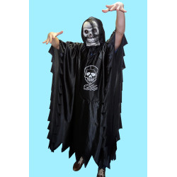 Masopustní kostým  SMRTKA - plášť s kapucí,maska