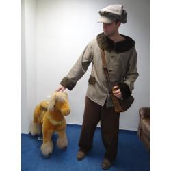 Masopustní kostým KOŇSKÝ HANDLÍŘ- kalhoty,sako,čepice