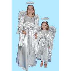 KOSTÝM ANDĚL STŘÍBRNÝ                                                                       šaty s mašlí