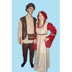 Karnevalový kostým TRHOVKYNĚ                                                šaty, čepice