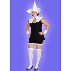 Karnevalový kostým JEPTIŠKA SEXY - šaty, kalhoty krátké, klobouk, návleky rukou