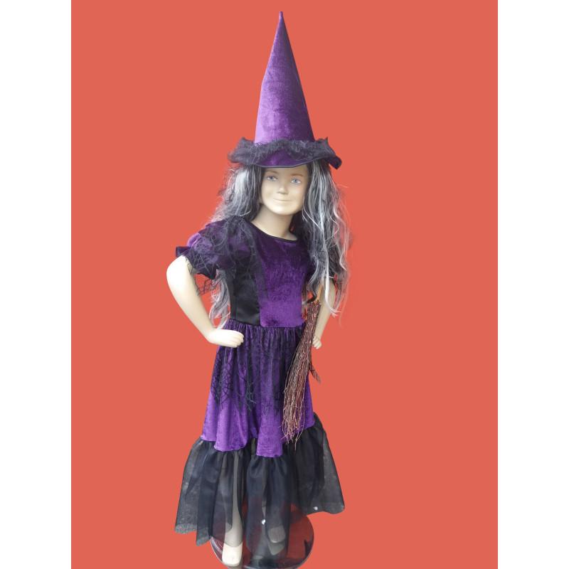 Karnevalový kostým Čarodějnice dětská                                                    šaty,klobouk
