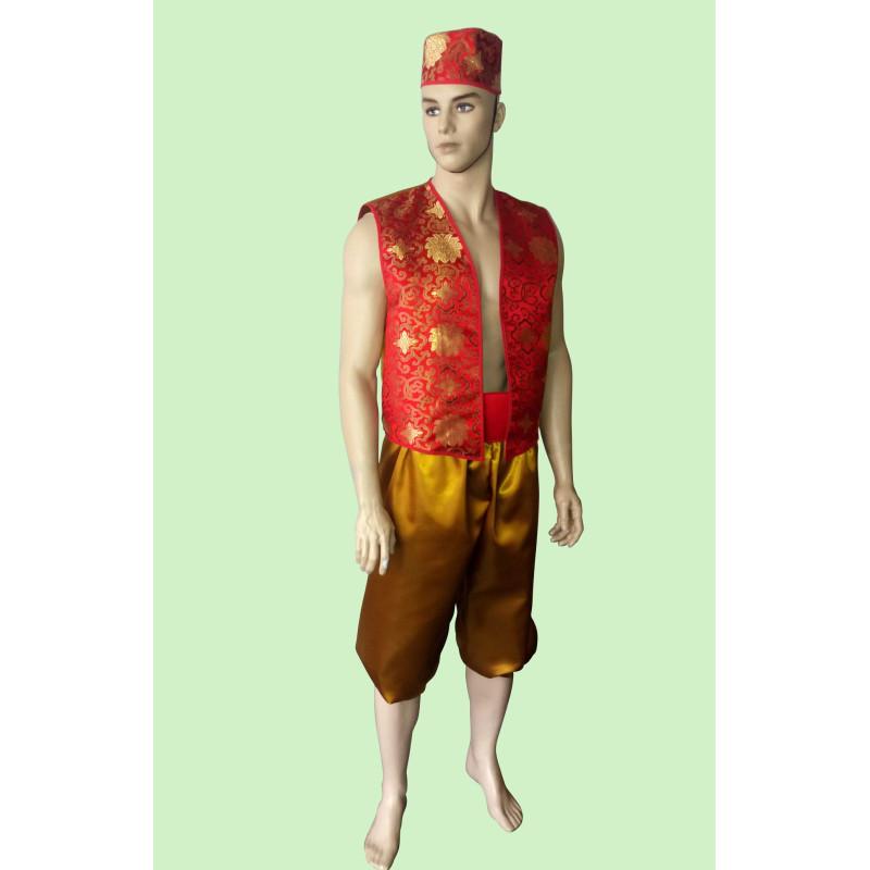 Karnevalový kostým Aladin červený                                                      kalhoty,pásek,vesta,čepice