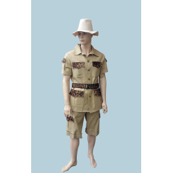 Karnevalový kostým Safari béžový                                                           kalhoty, horní díl s páskem