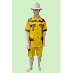 Karnevalový kostým Safari žluté                                                                      kalhoty, horní díl s páskem