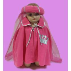 Karnevalový kostým Růžová pelerína s čelenkou                pelerína, čelenka