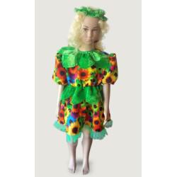 Karnevalový kostým Šaty slunečnice - šaty